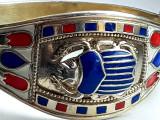 Bratara argint 925 aurit  decorata email, Femei