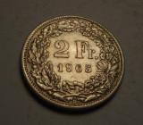 Elvetia 2 Franci 1965 UNC
