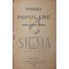 POESII POPULARE, 1883 - A . G . MAVRUS