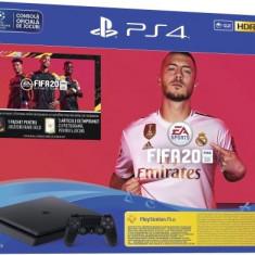 Consola Sony PlayStation 4 Slim 1TB + Joc FIFA20 + PSPlus 14zile + Voucher FIFA Ultimate Team (Negru)