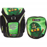 Ghiozdan scoala Explorer + sac sport, LEGO Core Line - design verde NinjaGo Lloyd
