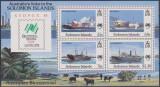 SOLOMON - 1988 - VAPOARE - Sydpex '88 -serie+bloc, Transporturi, Nestampilat