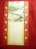 Carton- Suport Calendar -Hidrocentrala VI Lenin Bicaz , dim.= 16,2x28cm