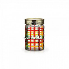 Recipent condimente din sticla pictata cu capac 1.3L Peterhof PH10028