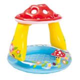 Piscina gonflabila Intex pentru copii, in forma de ciuperca si acoperis