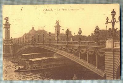 AD 678 C. P. VECHE -PARIS-LE PONT-CIRCULATA1911-ANDRE ALEXI-ASTRA ROMANA-CAMPINA foto