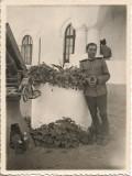 A532 Fotografie militar roman poligon trageri artilerie Dadilov 1935 poza veche