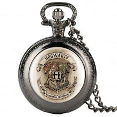 Mini Ceas De Buzunar HARRY POTTER - Hogwarts Negru