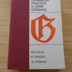 EM. SAVIN--GRAMATICA PRACTICA A LIMBII GERMANE - 1968