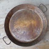 CRATITA / TIGAIE FOARTE MARE SI VECHE - FACUTA DIN TABLA OTELITA - STARE F BUNA
