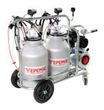 Aparat de muls vaci VEPEMIR 2 posturi si 2 bidoane Aluminiu 30 litri