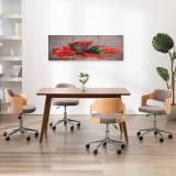 Set tablouri din pânză, imprimeu paprika, multicolor, 120x40 cm, vidaXL