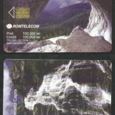 Romania 2004 Telephone card Nature Caves Waterfalls CT.019