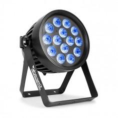 Beamz Professional BWA 520, Aluminiu IP65 LED Par 14x 18W, LED-uri 6în1, negru