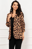 Sacou dama elegant cu imprimeu leopard