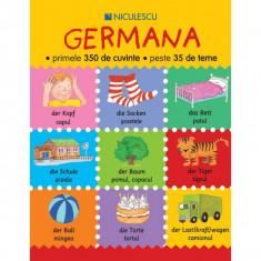 GERMANA, PRIMELE 350 DE CUVINTE, PESTE 35 DE TEME