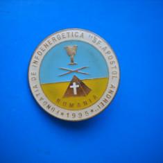 HOPCT ROMANIA INSIGNE VECHE FUNDATIA DE INFOENERGETICA SF APOSTOL ANDREI 1995