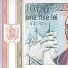 Bancnota Romania 1.000 Lei 1993 - P102 UNC ( varianta cu stema )
