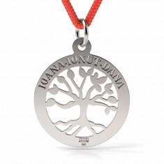 Pandantiv Copacul vietii cu Snur reglabil din Argint 925 personalizabil