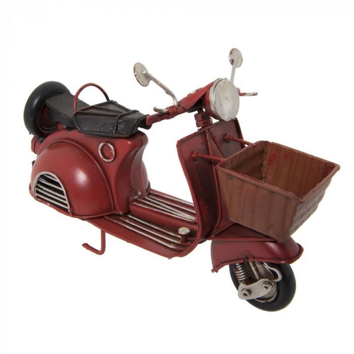 Macheta scuter retro burgundy metal 16*7*11 cm Elegant DecoLux