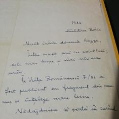 Scrisoare inedita expediată de Nicolae Steinhardt către Geo Bogza