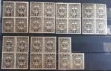 Romania - Taxa de plata - Coroana 1924 - 15 Buc - Bloc de 3 si 4, Nestampilat