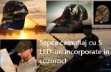 Sapca camuflaj cu 5 LED-uri incorporate in cozoroc