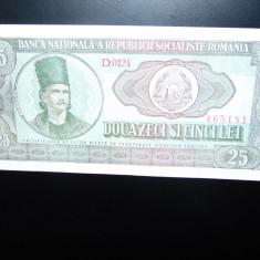 BANCNOTA ROMANIA 25 LEI 1966 AUNC