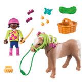 Playmobil Special Plus– Figurina fetita cu ponei (PM70060)
