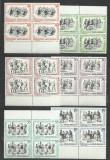 TSV* - 1966 LP 626 DANSURI POPULARE BLOC X 4 MNH/** LUX