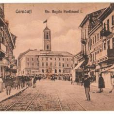 SV * BUCOVINA  *  CERNAUTI  *  STRADA REGELE FERDINAND  *  1929