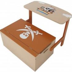 Mobilier Copii Fun 2 in 1 pentru depozitare jucarii Brown Pirate