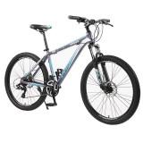 Cumpara ieftin Bicicleta Mountain Bike, cadru aluminiu, roti 26 inch, 21 viteze, schimbator Shimano, suspensii pe furca, frane pe disc, Phoenix