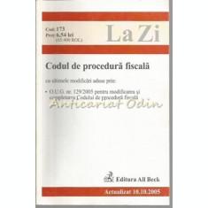 Codul De Procedura Fiscala - Octombrie 2005