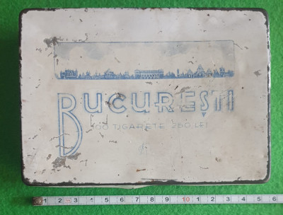 Cutie metalica tigarete, Bucuresti, perioada regalista foto