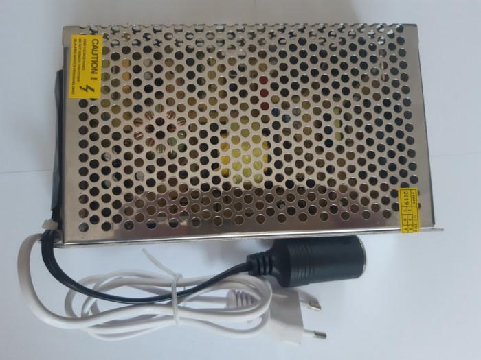 Adaptor priza 230V la 12V / 20A pentru frigidere, compresoare, aspiratoare auto