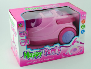 Aspirator de jucarie roz cu sunete si lumini - Happy Family