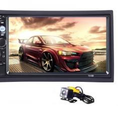 2Din mp5 player auto universal 7010b, Navigatie MirrorLink Rama Camera marsarier