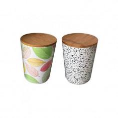 Recipient pentru depozitare , din fibre de bambus , cu capac , Grunberg