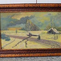 Tablou ulei pe carton semnat G .NIȚĂ