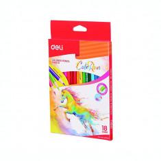 Creioane colorate 18 culori Deli ColoRun C003 10