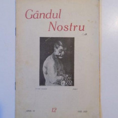 GANDUL NOSTRU, ANUL VI, NR. 12 1927