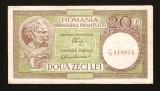 ROMANIA - 20 LEI 1947 1948 1949 1950 -  LUCA / RUBICEC . Fil  RPR  oizontal