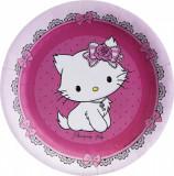 Farfurii petrecere copii 18 cm Charmmy Kitty, Amscan 551726, Set 8 buc