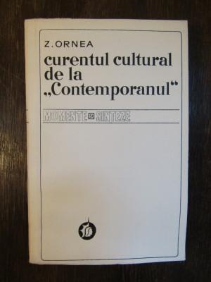 """Curentul cultural de la """"Contemporanul"""" - Zigu Ornea foto"""