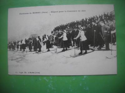 HOPCT 36980 PLECARE IN CURSA DE SCHI -MOREZ -SERIA FRANTA 1900-1905-NECIRCULATA foto