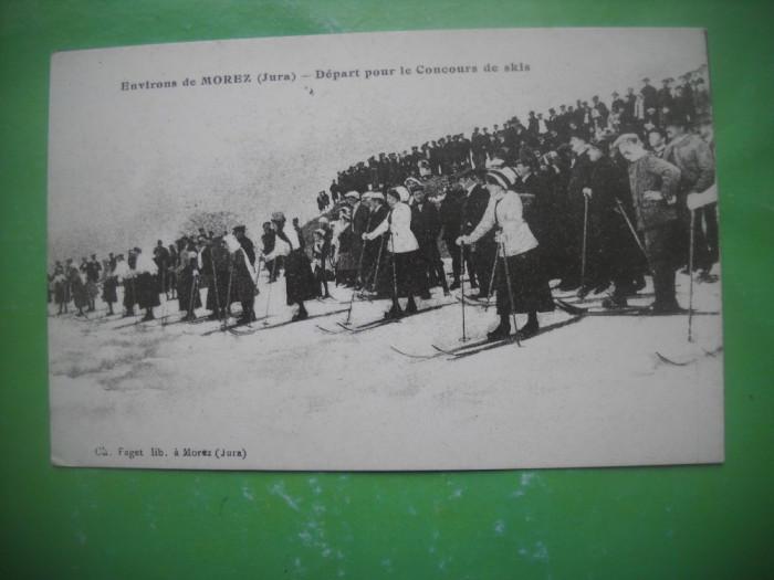 HOPCT 36980 PLECARE IN CURSA DE SCHI -MOREZ -SERIA FRANTA 1900-1905-NECIRCULATA