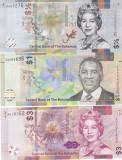 Bancnota Bahamas 1/2, 1 si 3 Dolari 2017/19 - PNew UNC ( set x3 - hibrid )