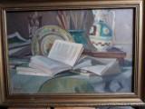 1928,Ed.Saulescu,Natura statica,ulei/p, Realism