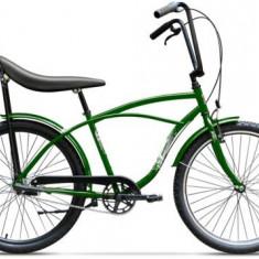 Bicicleta Pegas Strada 1 ALU 3S 2017, Cadru 17inch, Roti 26inch, 3 Viteze (Verde)